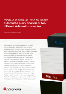 Automated purity analysis of two different Adenovirus samples (white paper)