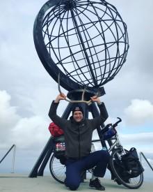 """UNICEF-Aktion """"Träume sind grenzenlos"""": TH-Logistik-Student Lukas hat per Rad das Nordkap erreicht"""