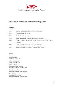 Bibliography Jacqueline Woodson