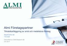 Almi-Tillväxtkartläggning av små och medelstora företag i Stockholms län