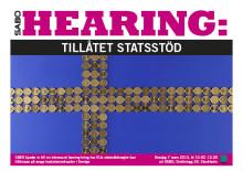 Pressinbjudan: SABO Hearing - Tillåtet statsstöd på svaga bostadsmarknader