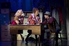 """""""Musikalen Annie"""" redo för premiärkväll! I regi av Eva Rydberg.  Nanne Grönvall, Thomas Järvheden i huvudrollerna på Nöjesteatern i Malmö."""