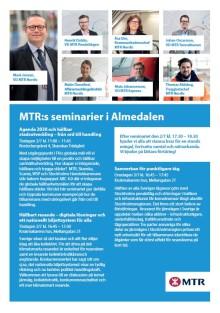 MTR:s seminarier i  Almedalen