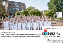 Workshop zu Nutzen stiftende Mehrwertapplikationen für die Zielgruppen Klinikführung, Logistik, Medizin und Pflege, Klinikum Oldenburg