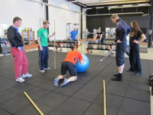 Naprapatlandslaget på vidareutbildning i korrektiv funktionell träning