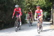 Pressetreff under sykkel-VM i Ponferrada