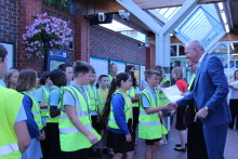 Eco-conscious pupils learn about recycling at Littlehampton train station