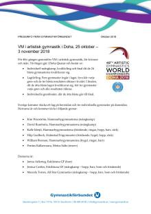 Fakta om VM i artistisk gymnastik