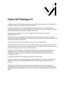 Faktablad
