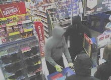 CCTV image released after three men attempt to rob a convenience store in Fareham