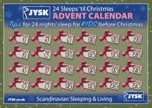 24 Sleeps Christmas Advent Calendar, with JYSK's Sleep Doctor, Dr John Shaw
