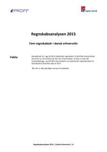 Dansk erhvervsliv - Regnskabsanalysen 2015 - total