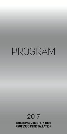 Promotionsprogram 2017