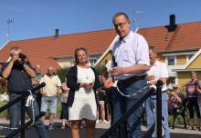 Arbogas nya promenadstråk längs ån har invigts