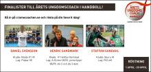 Tre finalister till Årets Ungdomscoach i handboll som koras 27 maj