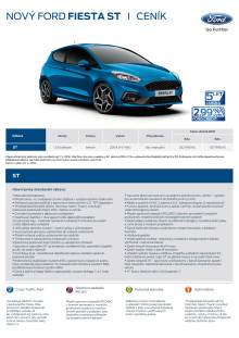 Fiesta ST – ceník