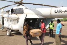 UNICEF bygger livräddande luftbro i Sydsudan