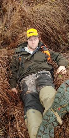 Vildsvinsgalt skadade jägare