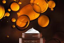 Nya Riche Crème - klassisk hudvård berikas med oljor från 1000 rosor