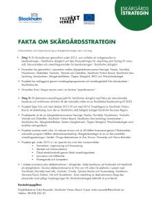 Fakta om Skärgårdsstrategin, uppdaterad 130201