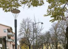 Ny belysning längs Storgatan i Tranås