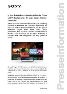 Medienmitteilung_BRAVIA Verfügbarkeit_D-CH_150401
