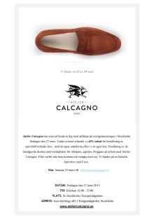Lanseringsevent för italiensk-svenska skor