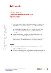 Factsheet: Santander-Woche Tag der Tat