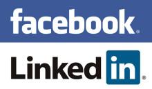 Finns du på Facebook, Linkedin eller Twitter?