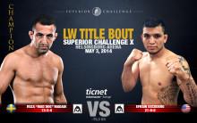 Reza Madadi möter amerikanen Efrain Escudero på Superior Challenge