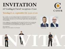 Goddag & Farvel-reception i Coor