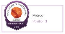 Midroc kniper andraplatsen på listan över Sveriges Bästa Arbetsgivare!