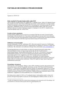 Faktablad om Svenska kyrkans ekonomi 2015