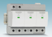 Type 1 lightning current arresters without line follow current for a 400/690 V network