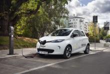 300 Renault ZOE i Stockholms nya bildelningstjänst aimo