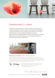 Nyheter från Stolab vid Stockholm Furniture Fair 2012