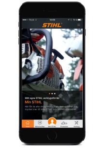 Mobilen är ett optimalt verktyg - bredvid din STIHL