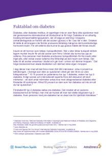 Faktablad diabetes