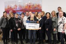 Sparbanken Nord i Piteå delade ut 90 000 kr under Sparbanksdagen