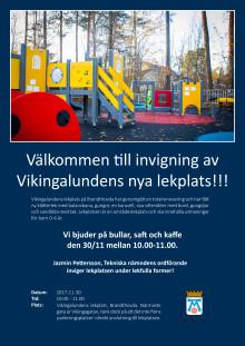 Invigning Vikingalundens lekplats