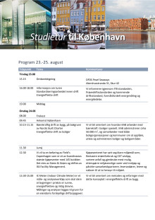 Program studietur for driftsansvarlige 23.-25. august