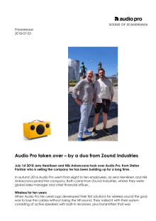 Audio Pro taken over – by a duo from Zound Industries