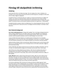 Förslag till nytt skolpolitiskt inriktningsprogram inför Landsdagarna 2011