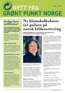 Nytt fra Grønt Punkt Norge 1/2011