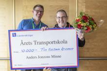 Björknäsgymnasiet i Boden fick utmärkelsen Årets Transportskola - Till Anders Jonzons minne!