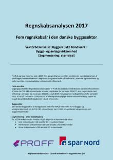 Regnskabsanalysen 2017 - september - byggeri