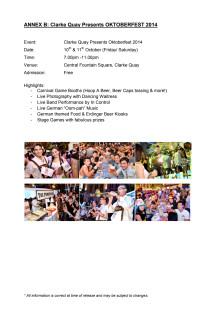 Oktoberfest Event Details
