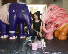 Karina's creative trio make Elephant Parade debut