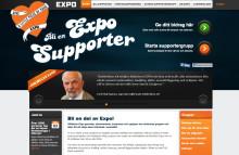 Högt ställd säkerhet på exposupporter.se