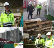 Per Jacobsson Byggnads AB ser många fördelar med Retursystem Byggpall